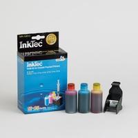 Цветной заправочный набор для HP CH562WA(№122), HP CH564WA(№122XL) Чернила 25мл каждого цвета  + Заправочный зажим, InkTec