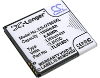 Аккумулятор для TCL One Touch Pop D5, OT-5038, OT-5038A (TLi018D1,TLi018D2)