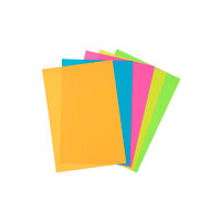 Фотобумага цветная, матовая, самоклеющаяся, 10х15 / 80 г / 5 цветов - образцы, REVCOL