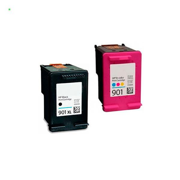 Картриджи для HP Officejet 4500, J4524, J4535, J4580, J4660 (Комплект из 2 шт) №901