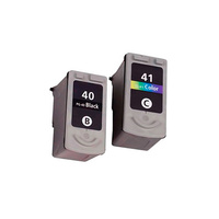 Картриджи для Сanon iP1200, iP1600, iP1700 (Комплект из 2 шт) PG-40 / CL-41