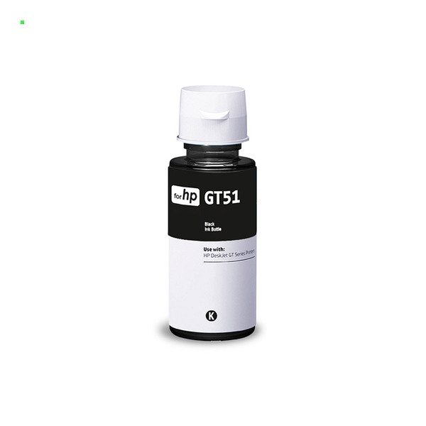 Чернила для HP GT51, DeskJet GT 5820 / Ink Tank Wireless 419 и др. / 90 мл / Black / Черный
