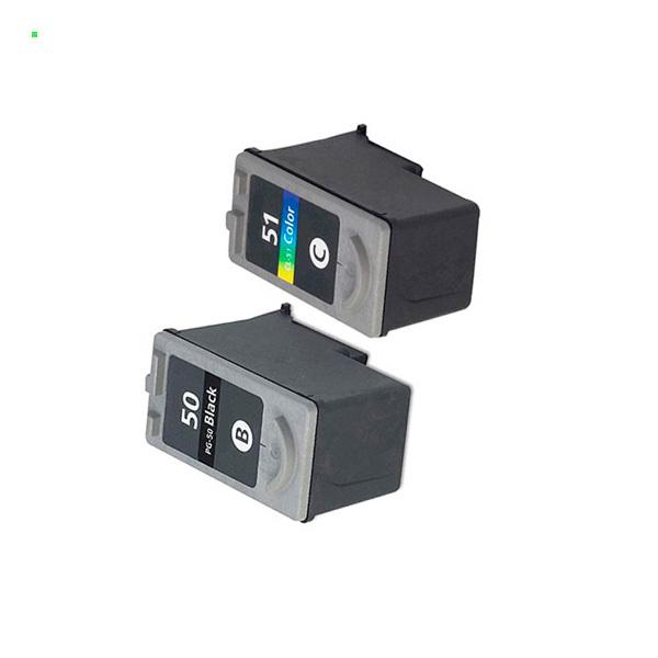 Картриджи увеличенного объема для Сanon iP1200, iP1300 (Комплект из 2 шт) PG-50 / CL-51
