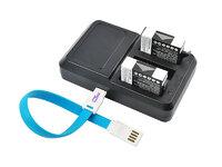 Зарядное устройство GoPro 4 и 2 аккумулятора в комплекте (CB-001)