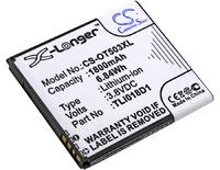 Аккумулятор Alcatel One Touch Link Y858, One Touch Link Y858V, One Touch Pop D5 (TLi018D1, TLi018D2)
