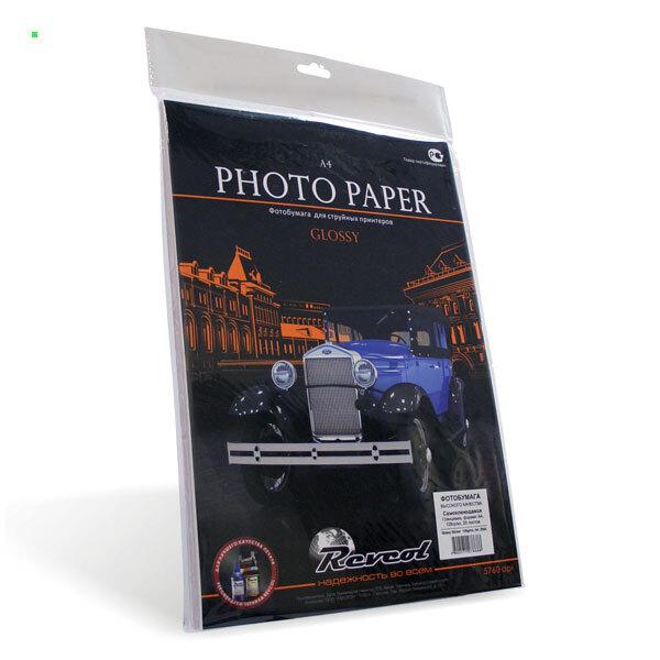 Самоклеющаяся фотобумага глянцевая А4 / 128 г / 25 л, REVCOL