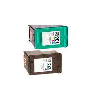 Картриджи для HP 5443, D4163, 2573 (Комплект из 2 шт) №132 / №136